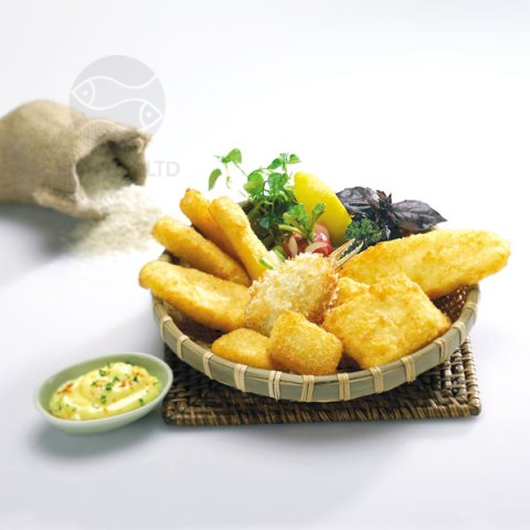 GOURMET SELECTION OF BREADED PANGASIUS PRODUCTS